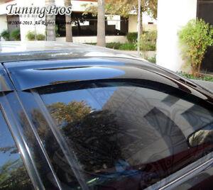 Dark Grey Outside Mount JDM Vent Visors Deflector 4pcs For Mazda Prot�g� 99-05