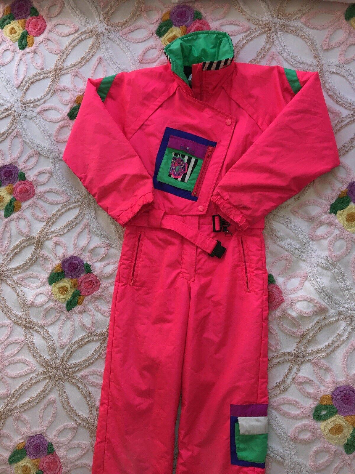 Obermeyer Sport Snow Suit Vintage Hot Pink Juniors  12  discount promotions