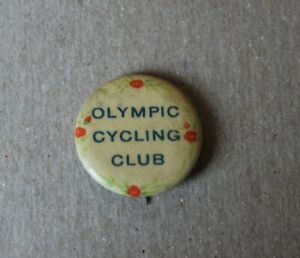 Vintage Olympic Cycling Club  Pinback Button Whitehead Hoag Co.