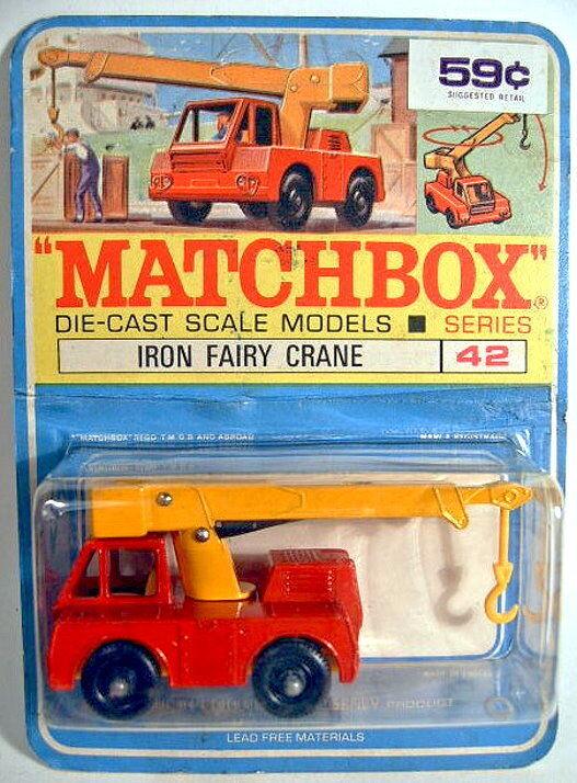 MATCHBOX 42 C IRON FAIRY FAIRY FAIRY CRANE ROUGE & JAUNE sur écotoxicologiques Canadischer étui. | De Qualité  3edb18