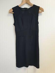 E994-WOMENS-MAJE-BLACK-OPAQUE-STRETCH-EVENING-FORMAL-BODYCON-DRESS-UK-6-8-FR-1