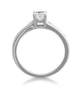 1 Karat Diamant Ring Weisses Gold 9k F Si Klarheit Solitar Diamant