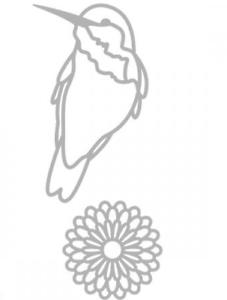 Oiseau et Fleur 2 DIES// MATRICES DE DÉCOUPE /'ARTEMIO 2 matrices de découpe