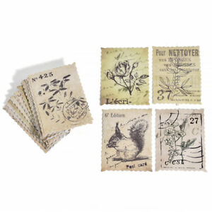 1-Box-46pcs-Vintage-Stamps-Deco-Stickers-Cute-Scrapbooking-DIY-Stickers-Tags