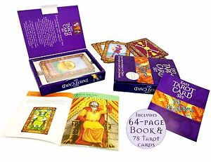 Easy-Tarot-Card-Deck-Set-Kit-Collection-Jumbo-Deck-64-Page-illustrated-Book-Set