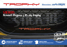 Renault Megane 3 RS TROPHY 265 Stickers Autocollants Parechoc Front Bumper Lame