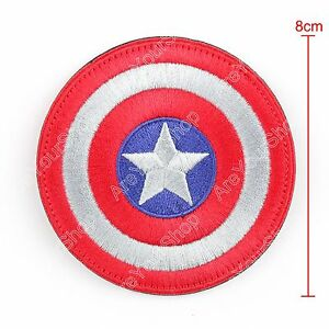 High-Quality-Avengers-Captain-America-Shield-Logo-Ecusson-Brode-Hook-Loop-Patch