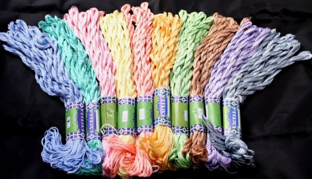 60 Opella SILKY Skein 5 Colors Cross Stitch Hand Embroidery Thread.