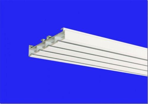 Gardinenschiene Flächenvorhangschiene Vorhangschiene Alu Modell 640 4 läufig