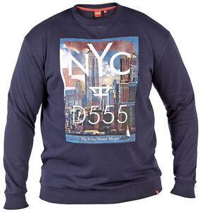 Mens-Duke-555-Sweatshirt-Causal-Graphic-Navy-Long-Sleeve-King-Sizes-1xl-4xl