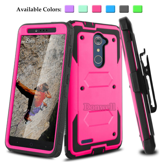 new product d6350 11fbd For ZTE Zmax Pro Z981/Blade X Max Z983 Hybird Stand Impact Armor Hard Case  Cover