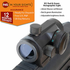 Shockproof red + green dot sight / Parallax free micro airsoft rifle scope