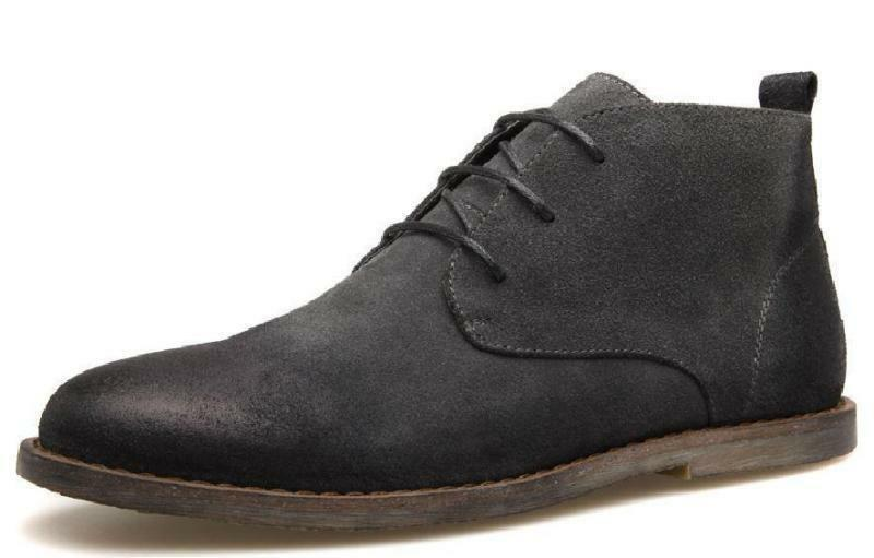 Mens Suede Leather Lace Up Desert Boot Dress Party Chukka Driving Casual shoes