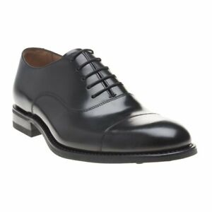 New MENS LOAKE BLACK FINSBURY LEATHER