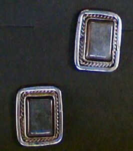 Native-American-Sterling-Silver-and-Hematite-Earrings-E107