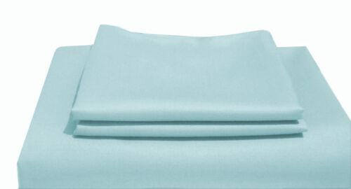 1000TC Egyptian Cotton SHEET SET Sateen Solid Powder Blue