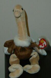 44fec84a33c Ty Beanie Baby ~ STRETCH the Ostrich Bird (6.5 Inch) MWMT 8421041824 ...