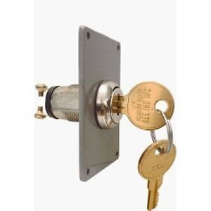 Universal Electric Key Switch W Plate 2 Keys Home Gate