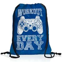 Gamer Workout Rucksack Sportbeutel Turnbeutel Konsole Station Play Kontoller Ps