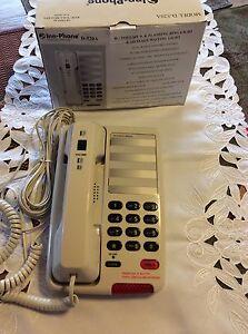 INN-PHONE HOSPITALITY PHONE M/N:D-520A. NEW! XL-Flash-Ring-Volume + Button+