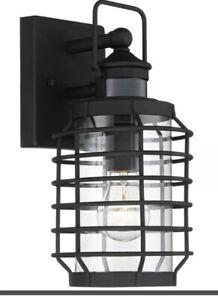 Motion Sensor Caged Outdoor Wall Light