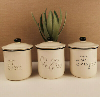 Tea Coffee Sugar Canister Set Chiltern