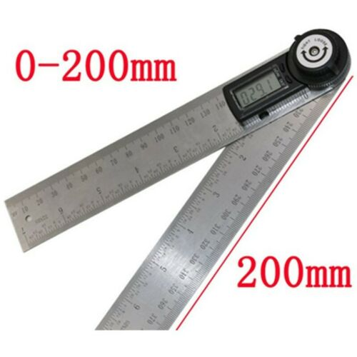 200mm 2 In1 Electronic Protractor Digital Goniometer Angle Finder Gauge Ruler