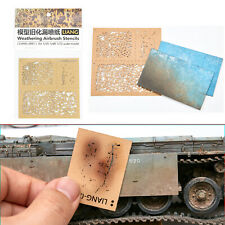 DIY Decoration Weathering Airbrush Stencils Tools for 1/35 1/48 1/72 Scale Model