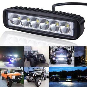 Car-Truck-18W-LED-Work-Light-Bar-Reversing-Spot-Lamp-Boat-4WD-12V-24V-SE