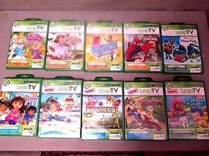 NEW LEAP TV GAMES:Disney Princess, Sofia, Dora, Kart Racing, Pixar Pal & More BN