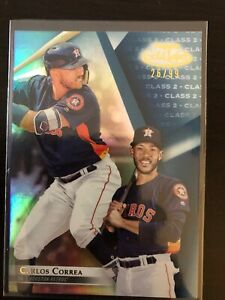 2018 Topps Gold Label Class 2 # 46 Carlos Correa Houston Astros Numbered 26/99