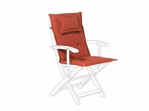 Détails sur Coussin de jardin terracotta pour chaise inclinable - Maui
