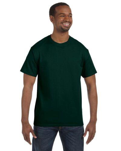 Hanes Mens Short Sleeve Tagless T Shirt  S M L XL 2XL 3X 4XL 5XL 5250