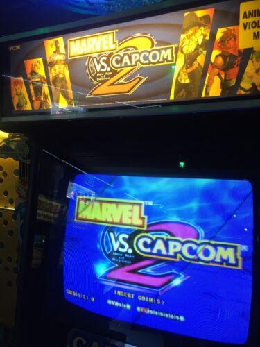 "Marvel vs Capcom 2 Arcade Marquee 26/""x8/"""