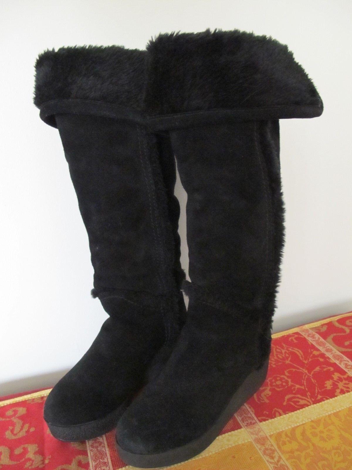 Bcbg Max Azria para mujer botas Invierno De Gamuza Negra pre propiedad