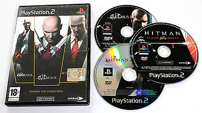 Sony PLAYSTATION 2 PS2 HITMAN COLLECTION 2007 Eidos CONTRACTS BLOOD MONEY RARO