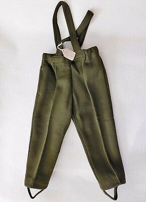 Vintage baby trousers green UNUSED Age 1 year boy girl clothes 1960s 1970s