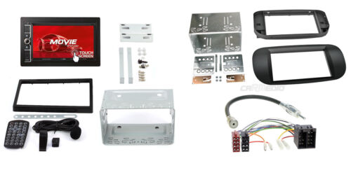 Fiat 500 a partir de 07 2-din autoradio usd SD iPhone Android Radio diafragma