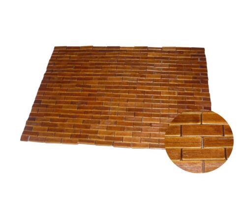 50x70 60x90 bambú madera de bambú estera baño tapete baño sauna estera teca