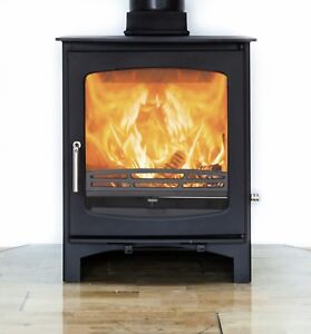 Image Is Loading Purefire 10kw Curve Multi Fuel Woodburning Wood Burning