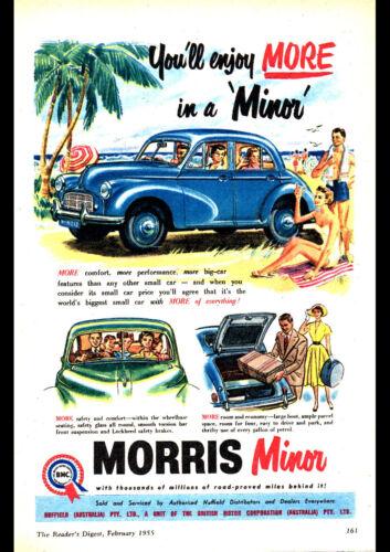 "1955 MORRIS MINOR BMC AD A4 POSTER GLOSS PRINT LAMINATED 11.7""x8.3"""