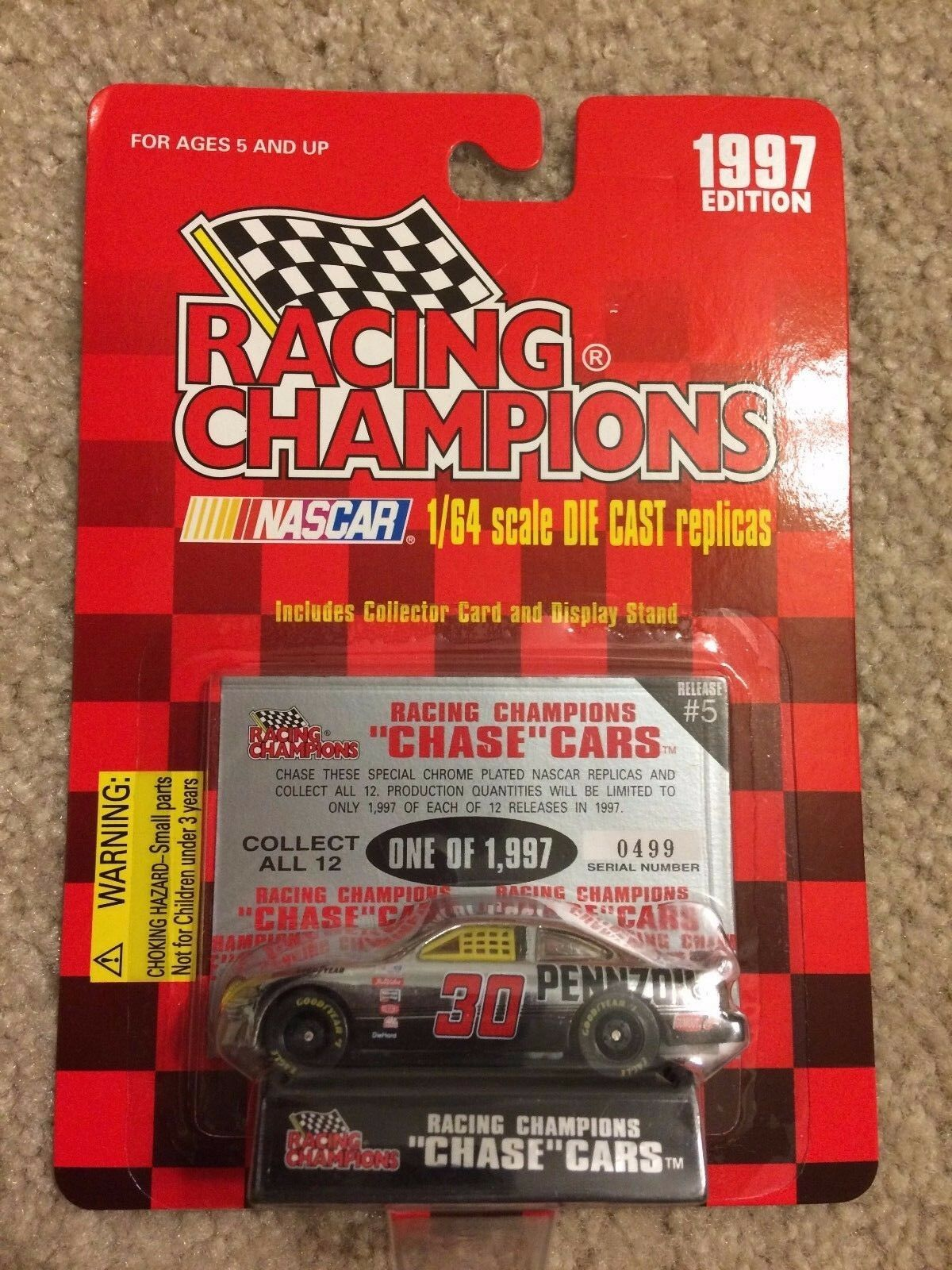 Racing Champions 1 64 assortment     1993,1994.1996.1997 chase car