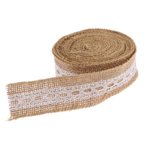 Hessian Rustic Burlap Sewing Ribbon Lace Wedding Party Vintage Craft Trim
