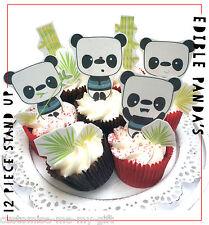 Panda 12 piece Cute Edible Pop Top Cupcake Toppers | Cake | Birthday decorations