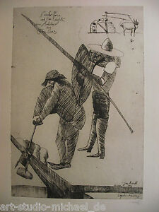 """Norddeutsche artisti: PIT Morell: """"Don Quichote"""" EDIZIONE 116/180, acquaforte"""