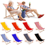 miniatura 1 - Silla tumbona tumbona de playa tumbona para tomar el sol tumbona de jardín tumbona de madera plegable tumbona relax