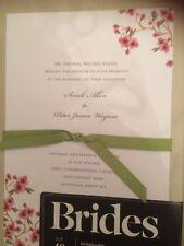 BRIDES Wedding Invitation Kit Cherry Blossom Invite 40 NEW