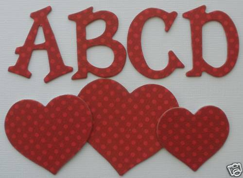 "Bo Bunny Double Dot *WiLD BERRY* Chipboard Letters Alphabet Die Cuts  1.5/"" Tall"