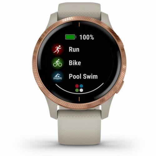 Light Sand with Rose Gold Garmin Venu Amoled GPS Smartwatch
