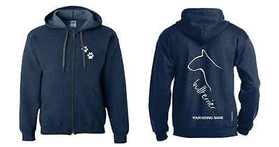 Confident Bull Terrier Full Zipped Dog Breed Hoodie Dogs Exclusive Dogeria Design At Any Cost